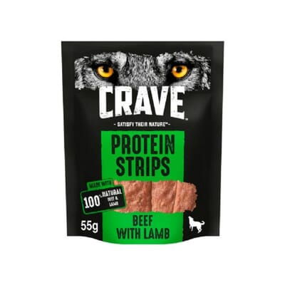 Crave Protein Strips Beef & Lamb 55g