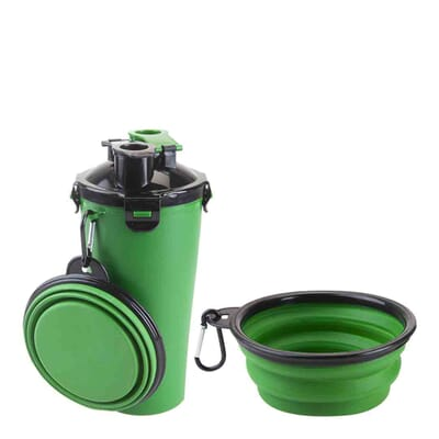Crufts  2 in 1 Travel Bowl & Water Bottle