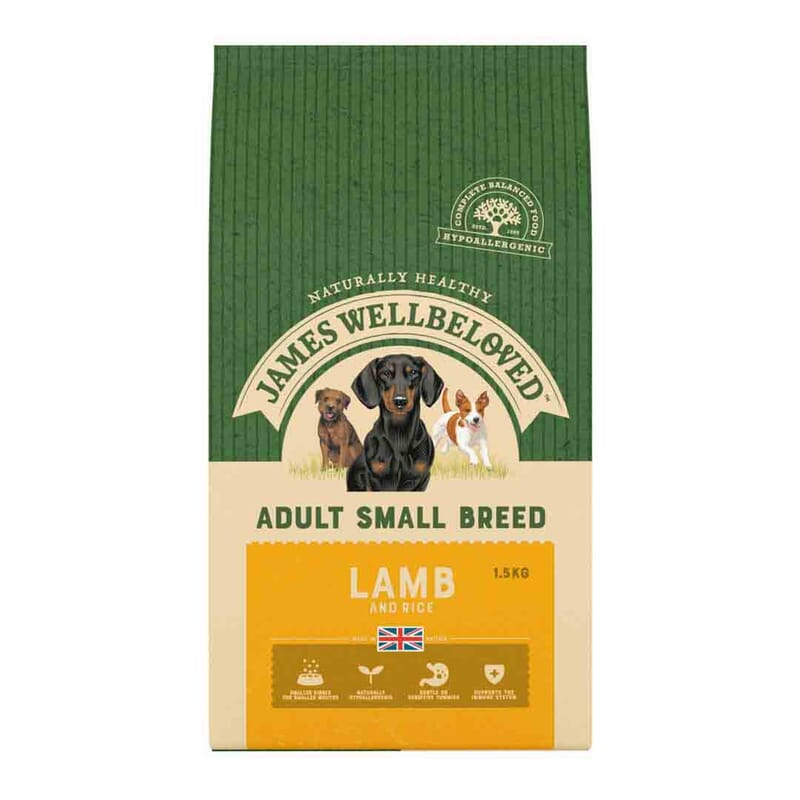 James Wellbeloved Dog Small Breed Adult Lamb & Rice 1.5kg