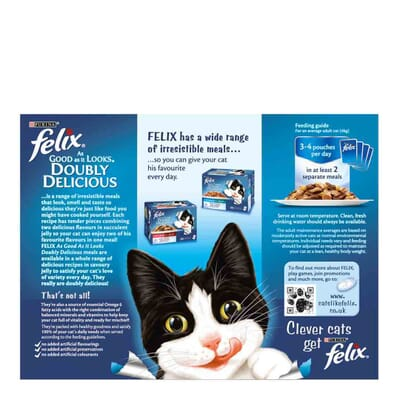 Felix As Good As It Looks Pouch Doubly Delicious Meat Multipack 12x100g