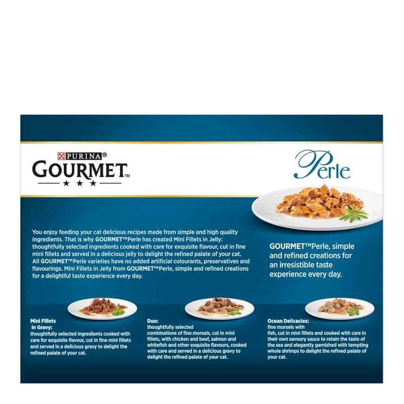 Gourmet Perle Pouch Country Medley in Jelly (Turkey, Trout, Duck & Game) Multipack 12x85g