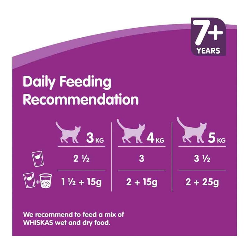 Whiskas Senior Pouch in Jelly Poultry Selection 12x100g