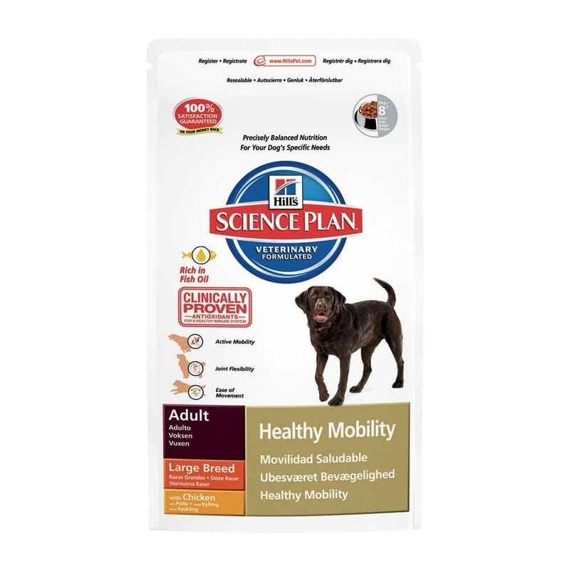 Hill's Science Plan Canine Adult Healthy Mobility Large Breed Chicken 12kg
