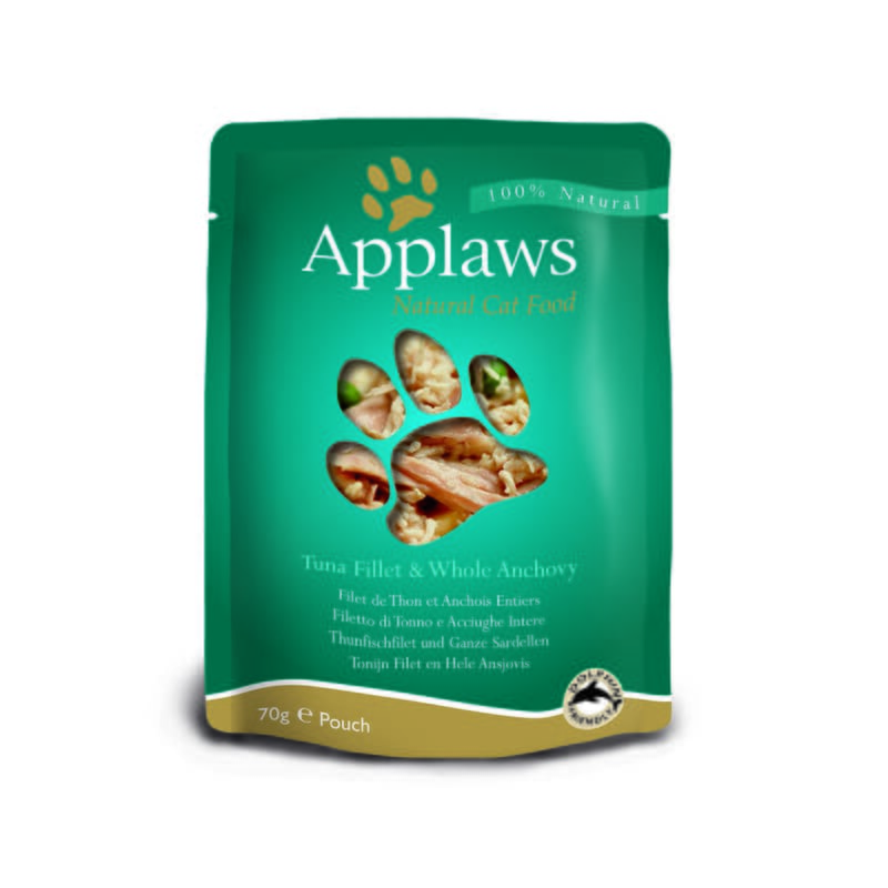 Applaws Cat Tuna and Anchovy Pouch 70g