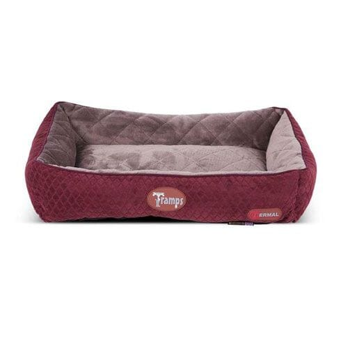 Tramps Thermal Lounger Cat Bed Burgundy